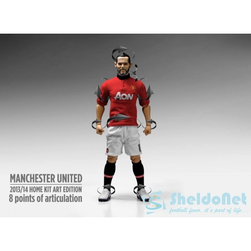 384da343e86 Manchester United 1/6 Scale Collectible Action Figurines RYAN GIGGS Art  Edition Away Kit