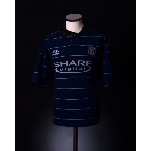 cfc6efbf6 MANCHESTER UNITED Football Club 1999 Official UMBRO Away Kit - New with Tag  - Size XL UK