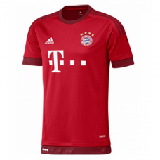 BAYERN MUNICH FC MENS SHORT SLEEVE OFFICIAL ADIDAS HOME JERSEY 2015/16 - New with Tag - Size L