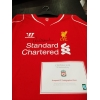 LIVERPOOL FC 2014/15 Home Jersey Signed by Robbie Fowler