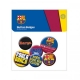 BARCELONA Football Club Official Button Badge Set a75butba