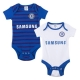 CHELSEA Football Club Official 2 Pack Bodysuit 3/6 months 68cm