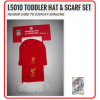 LIVERPOOL Football Club Official L5010 Toddler Hat & Scarf Set