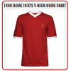LIVERPOOL Football Club Official T400 Home 1970's V-Neck (M- size)