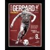 LIVERPOOL Football Club Official Picture Gerrard Retro 16X12 b35pcllvrg