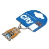 MANCHESTER CITY Football Club Official Keyring a25krcmc