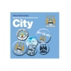 MANCHESTER CITY Football Club Official Button Badge Set a75butmc