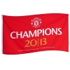 MANCHESTER UNITED Football Club Official Champions 2013 Flag 5X3 WH FLG53EPCHMNU
