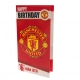 MANCHESTER UNITED Football Club Official Birthday Card MU050