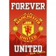 MANCHESTER UNITED Football Club Official Poster Crest 19 SP0268