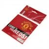 MANCHESTER UNITED Football Club Official Window Sticker Square c20winmusq