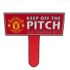 MANCHESTER UNITED Football Club Official Keep Off The Pitch Sign f75keemu