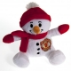 MANCHESTER UNITED Football Club Official Soft Toy Snowman r15snwmu