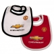 MANCHESTER UNITED Football Club Official 2 Pack Bibs MAN902